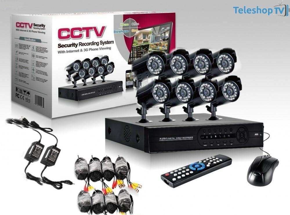 Kit CCTV DVR, Sistem Supraveghere, 8 Camere Interior/Exterior