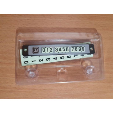 Placuta magnetica afisare numar telefon pentru autoturism