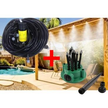 Pachet promotional Sistem de racire terase si aspersor multifunctional tip Sprinkler